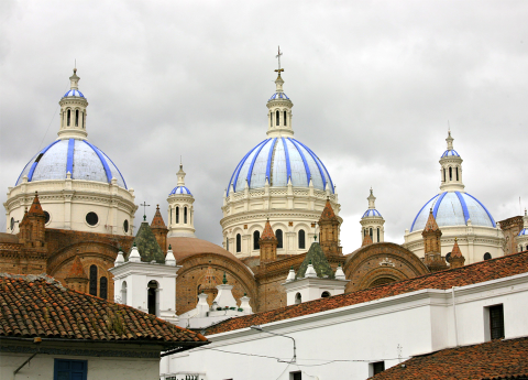 Cathedral in Cuenca, Ecuador