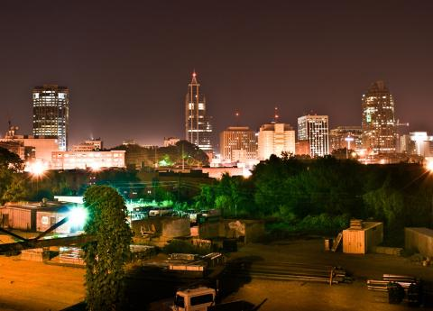 Night skyline of Raleigh