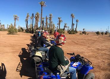 Bluespark team riding four wheelers in Morocco